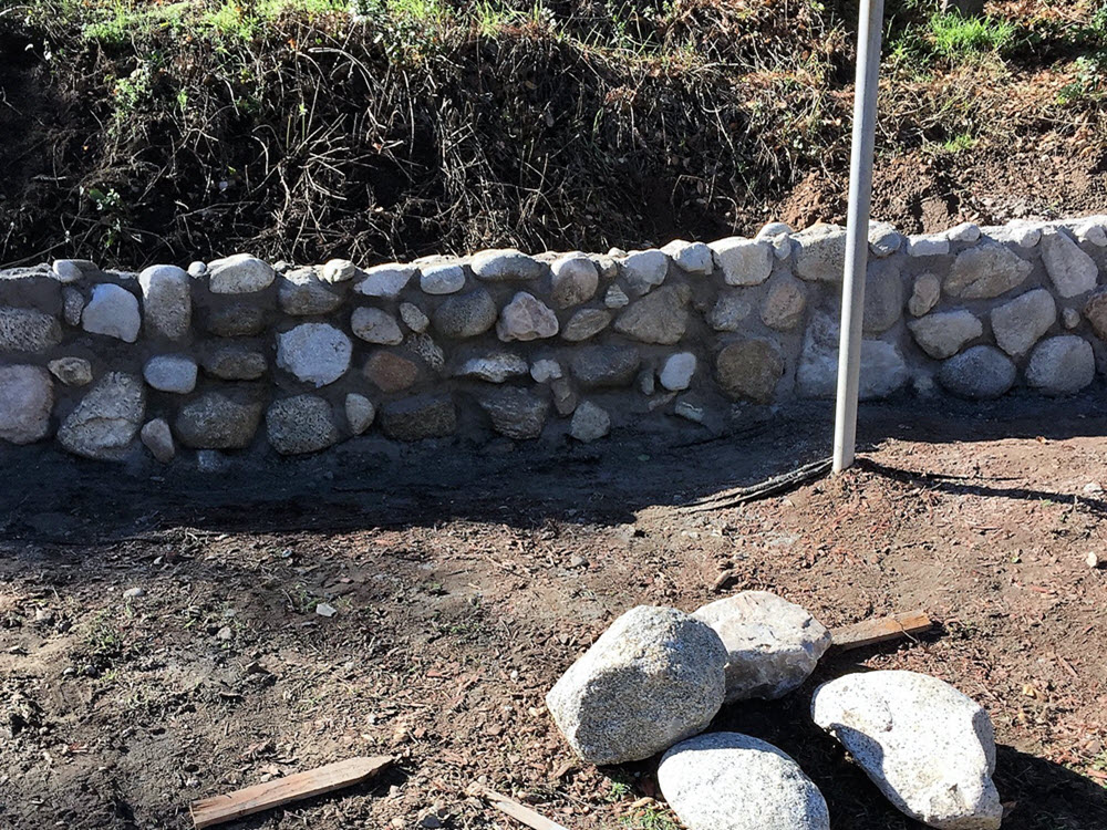 Ed's Landscaping Natural Stone Wall