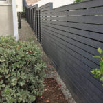 Ed's Landscaping Horizontal Fence Gray fence